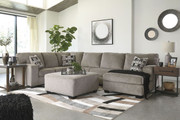 Ashley Ballinasloe Platinum LAF Sofa/Couch, Armless Loveseat & RAF Corner Chaise Sectional