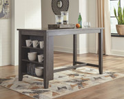 Ashley Caitbrook Dark Gray Rectangular Dining Room Counter Table