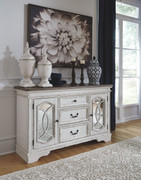 Ashley Realyn Chipped White Dining Room Server