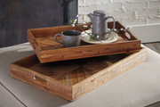 Ashley Dewitt Brown Tray Set