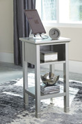 Ashley Marnville Silver Finish Accent Table