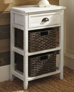 Ashley Oslember White Accent Table