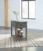 Ashley Borlofield Dark Gray Rectangular End Table