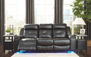 Ashley Kempten Black Reclining Sofa/Couch