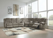 Ashley Segburg Cobblestone Reclining Sofa/Couch, Wedge & Double Reclining Loveseat with Console Sectional