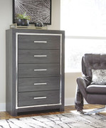 Ashley Lodanna Gray Five Drawer Chest