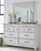 Ashley Kanwyn Whitewash Dresser & Mirror