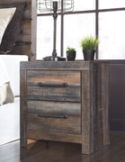 Ashley Drystan Multi Two Drawer Night Stand
