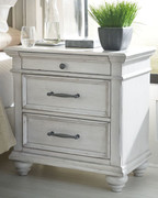 Ashley Kanwyn Whitewash Three Drawer Night Stand