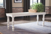 Ashley Dannerville White Accent Bench