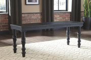 Ashley Dannerville Antique Black Accent Bench