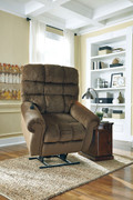 Ashley Ernestine Truffle Power Lift Recliner