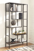 Ashley Frankwell Brown/Black Bookcase