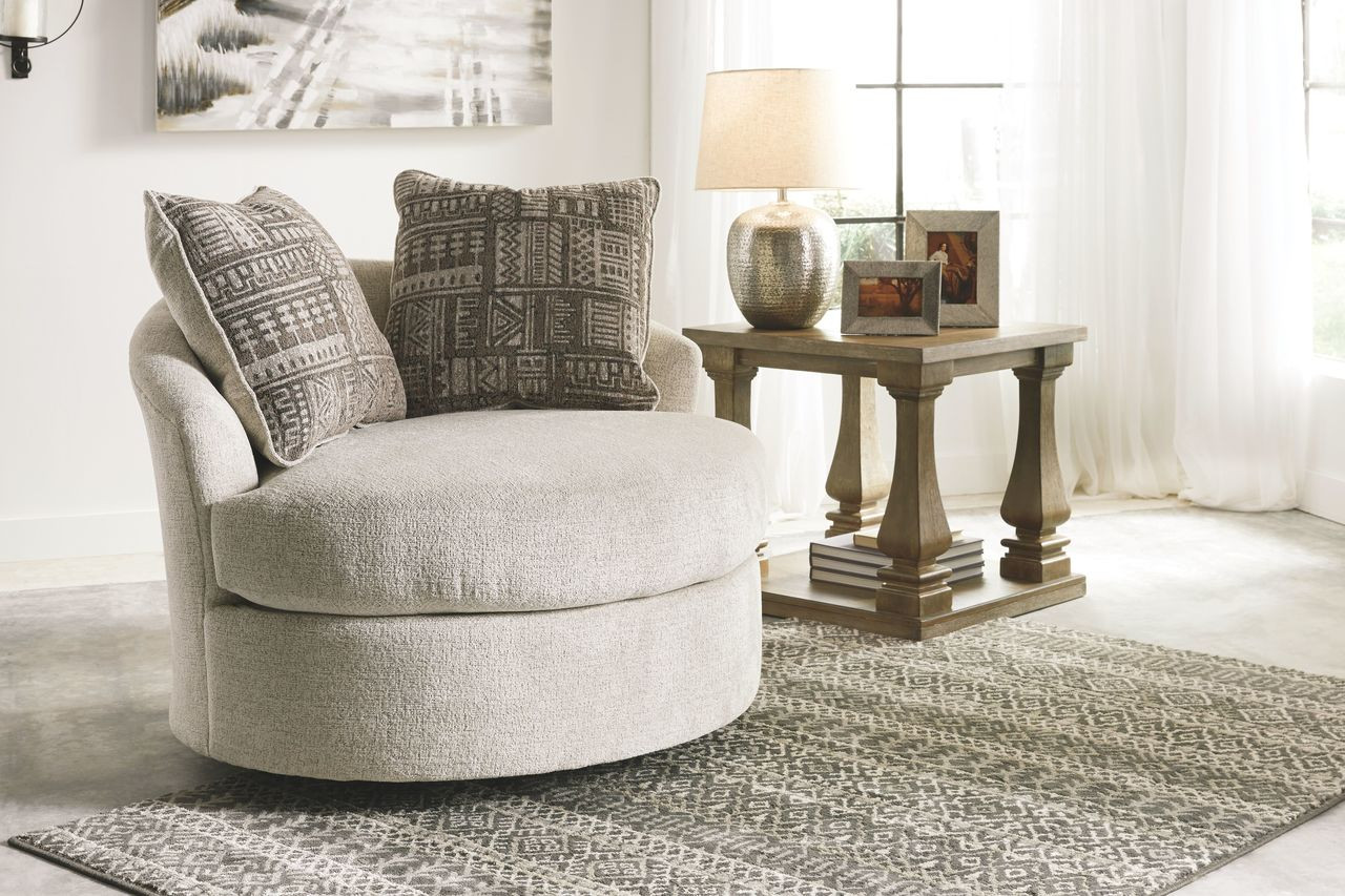 Ashley Soletren Stone Swivel Accent Chair On Sale At