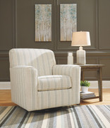 Ashley Alandari Gray Swivel Glider Accent Chair