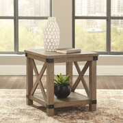 Ashley Aldwin Gray Rectangular End Table