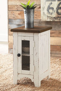 Ashley Wystfield White/Brown Rectangular End Table