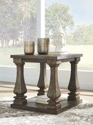 Ashley Johnelle Gray Rectangular End Table