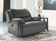 Ashley Clonmel Charcoal Zero Wall Wide Seat Recliner