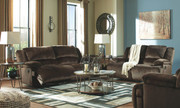 Ashley Clonmel Chocolate Reclining Sofa, Reclining Loveseat & Zero Wall Wide Seat Recliner