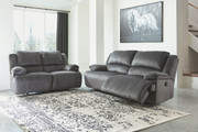 Ashley Clonmel Charcoal 2 Seat Reclining Sofa & Reclining Loveseat