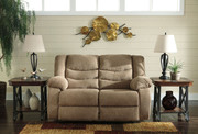 Ashley Tulen Mocha Reclining Loveseat
