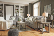 Ashley Alandari Gray Sofa, Loveseat & Swivel Glider Accent Chair
