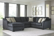 Ashley Eltmann Slate LAF Corner Chaise, Armless Loveseat & RAF Sofa with Corner Wedge Sectional