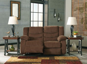 Tulen Chocolate Reclining Loveseat