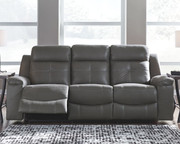 Ashley Jesolo Dark Gray Reclining Sofa