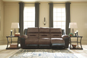 Ashley Earhart Chestnut Reclining Sofa