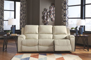 Ashley Rackingburg Cream Reclining Sofa