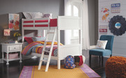 Ashley Kaslyn White Twin/Twin Bunk Bed