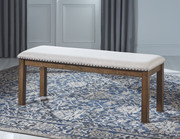 Ashley Moriville Beige Upholstered Bench