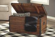 Ashley Kettleby Brown Storage Trunk