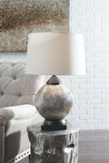Ashley Cailan Silver/Bronze Finish Glass Table Lamp (1/CN)