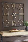Ashley Thames Black/Gold Finish Wall Clock