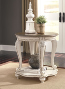 Ashley Realyn White/Brown Round End Table