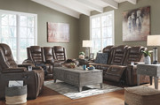 Ashley Game Zone Bark Power Reclining Sofa/Couch/Couch with ADJ HDRST, Power Reclining Loveseat with CON/ADJ HDRST, Power Recliner/ADJ Headrest, Chazney Cocktail Table & 2 End Tables