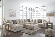 Ashley  Ardsley Pewter LAF Corner Chaise, Armless Loveseat, Armless Chair, Wedge, RAF Sofa/Couch/Couch Sectional & Accent Ottoman