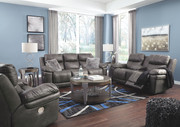 Ashley Erlangen Midnight Power Reclining Sofa/Couch with ADJ HDRST, Power Reclining Loveseat with CON/ADJ HDRST & Power Reclining with ADJ HDRST