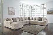 Ashley Ardsley Pewter LAF Corner Chaise, Armless Loveseat, Armless Chair, Wedge & RAF Sofa/Couch Sectional