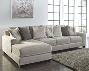 Ashley Ardsley Pewter LAF Corner Chaise & RAF Sofa/Couch Sectional