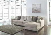 Ashley Ardsley Pewter LAF Sofa/Couch & RAF Corner Chaise Sectional