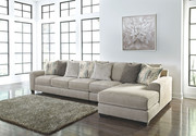 Ashley Ardsley Pewter LAF Sofa/Couch, Armless Chair & RAF Corner Chaise Sectional