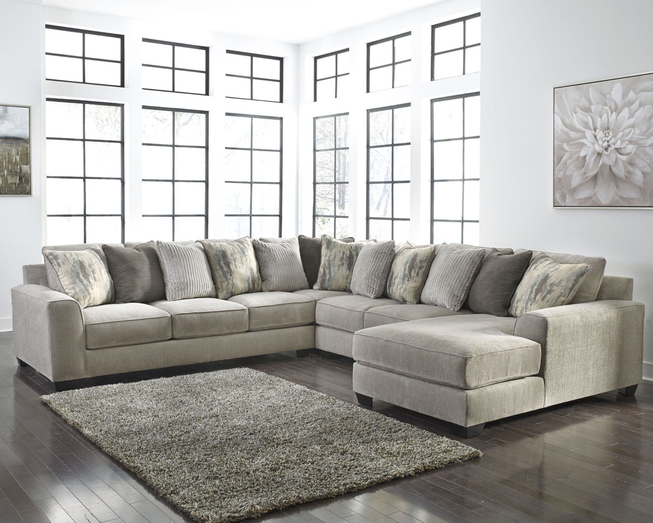 Amazing Ashley Ardsley Pewter Laf Sofa Couch Wedge Armless Loveseat Raf Corner Chaise Sectional Unemploymentrelief Wooden Chair Designs For Living Room Unemploymentrelieforg