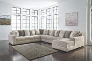 Ashley Ardsley Pewter LAF Sofa/Couch, Wedge, Armless Chair, Armless Loveseat & RAF Corner Chaise Sectional