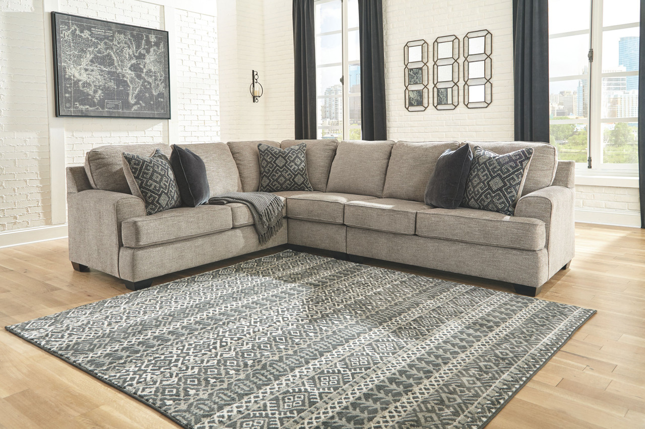 Swell Ashley Bovarian Stone Laf Sofa Couch With Corner Wedge Armless Chair Raf Loveseat Sectional Gmtry Best Dining Table And Chair Ideas Images Gmtryco