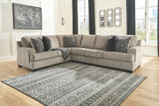 Ashley Bovarian Stone LAF Sofa/Couch with Corner Wedge, Armless Chair & RAF Loveseat Sectional