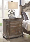 Ashley Charmond Brown Two Drawer Night Stand